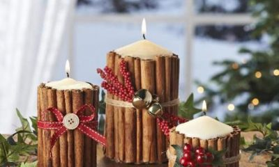 Top 10 DIY Beautiful Christmas Candles and Candle Holders | Top Inspired