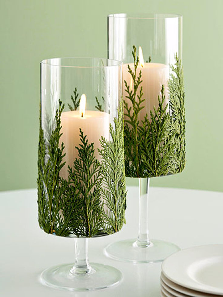 Top 10 diy beautiful christmas candles and candle holders for Christmas candle displays