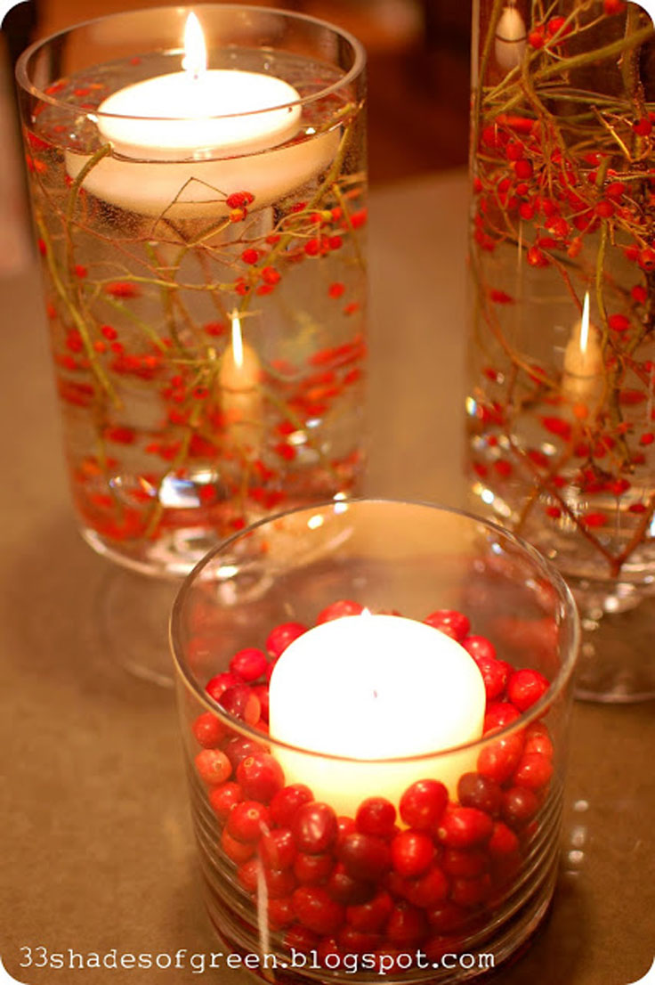 diy beautiful christmas candels_09 - Christmas Candle Holders Decorations