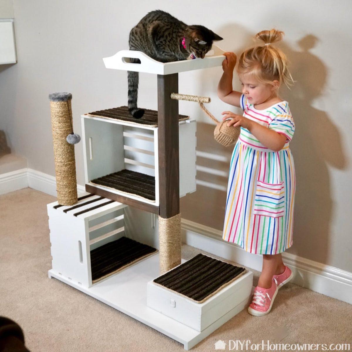 DIY-Cat-tree-house-crate