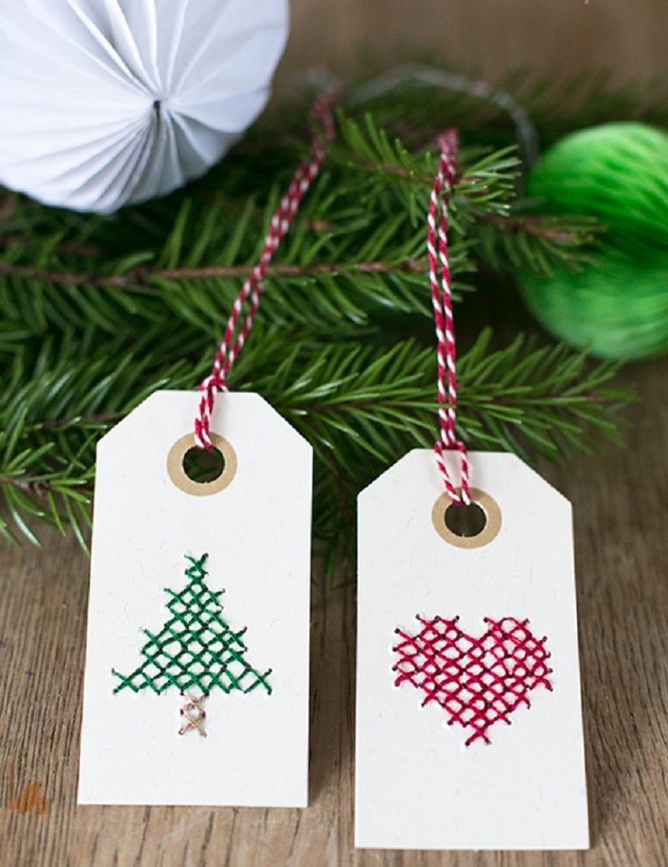 Top 10 DIY Christmas Gift Tags - Top Inspired
