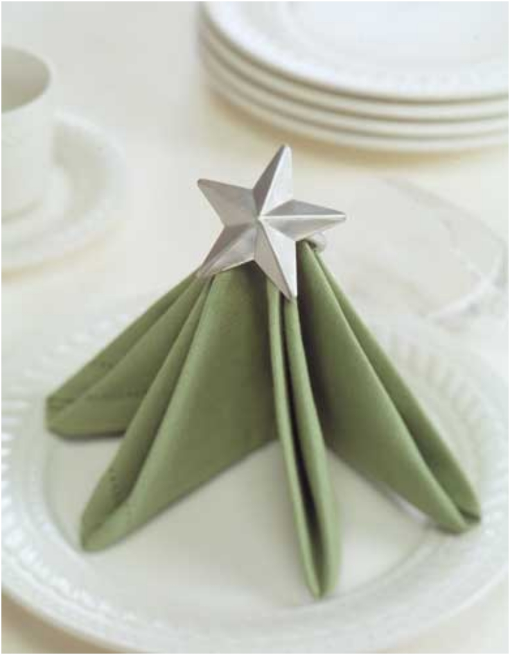 Christmas Tree Setup Instructions : Top christmas napkin folding tutorials inspired