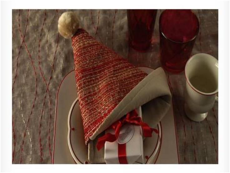 Fold-a-Santa-Hat-Napkin