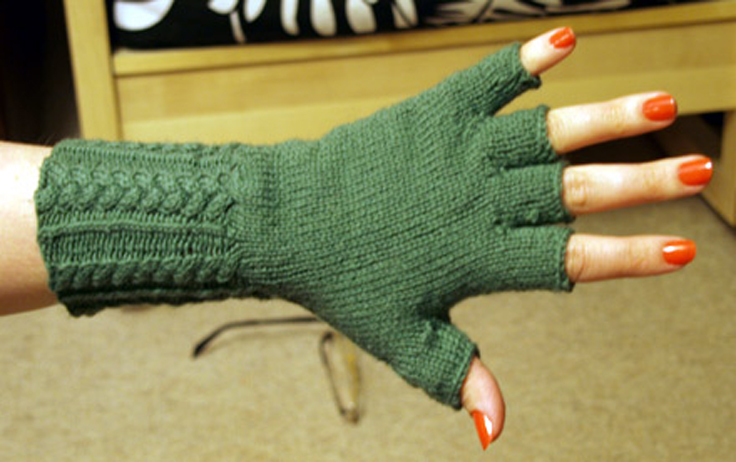 Knitted Glove Patterns : Top 10 Free Patterns for Knitting Fingerless Mittens - Top Inspired