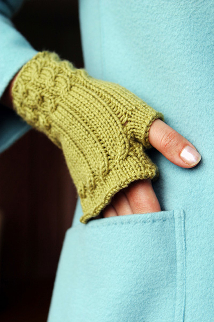 Knitting Pattern Of Gloves : Top 10 Free Patterns for Knitting Fingerless Mittens - Top Inspired