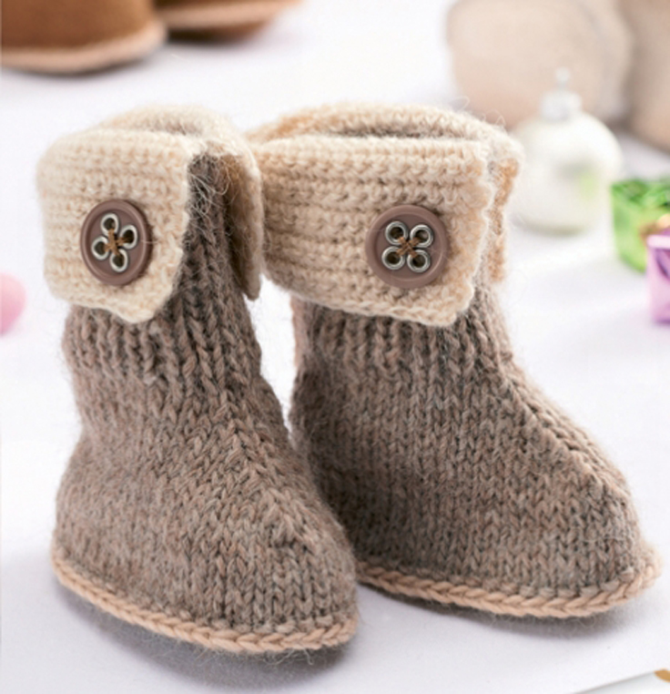 Knitting Patterns For Toddlers Booties : Top 10 Free Patterns for Knitting and Crocheting Baby Booties - Top Inspired