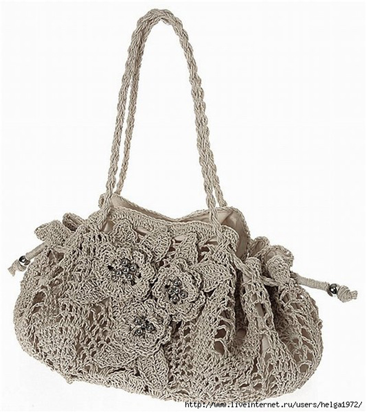 Crochet Purses And Bags Tutorials : Crochet Bag Patterns Free Patterns for Womens Crocheted Bags