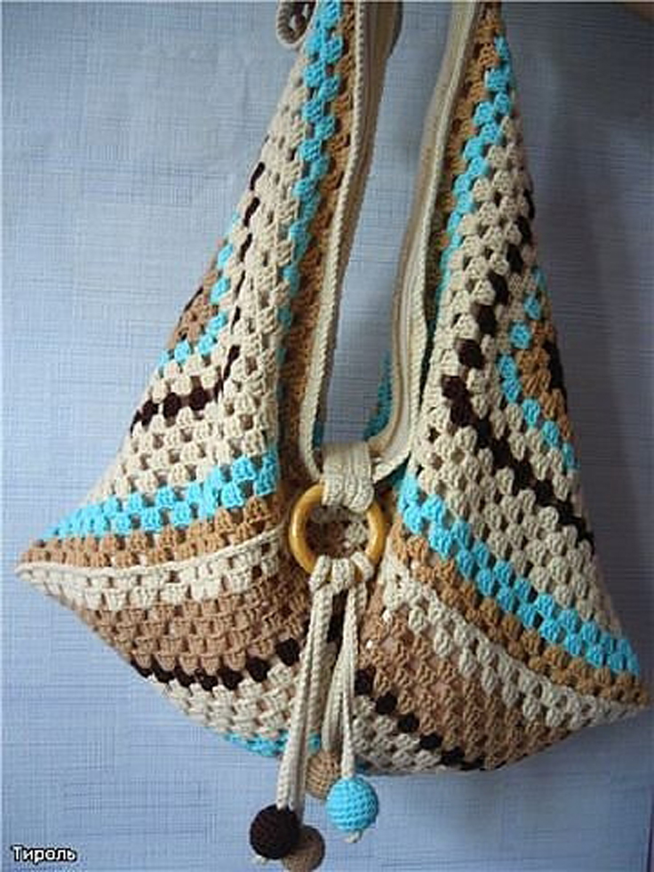 Free Crochet Patterns For Tote Bags And Purses : Top 10 Gorgeous Crochet Patterns for Handbags - Top Inspired