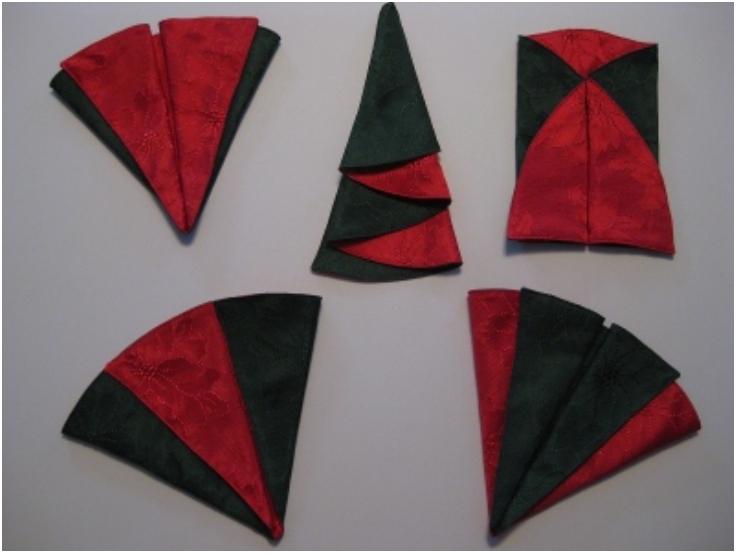 Napkin Folding Christmas.Top 10 Christmas Napkin Folding Tutorials Top Inspired