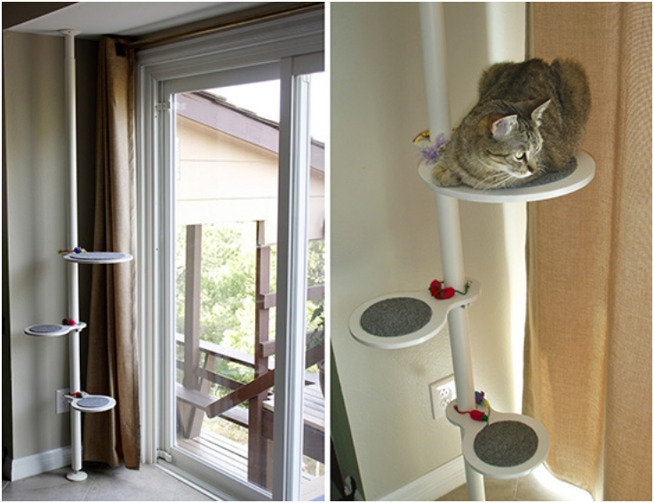 Top 10 entertaining diy cat trees top inspired for Do it yourself cat condo