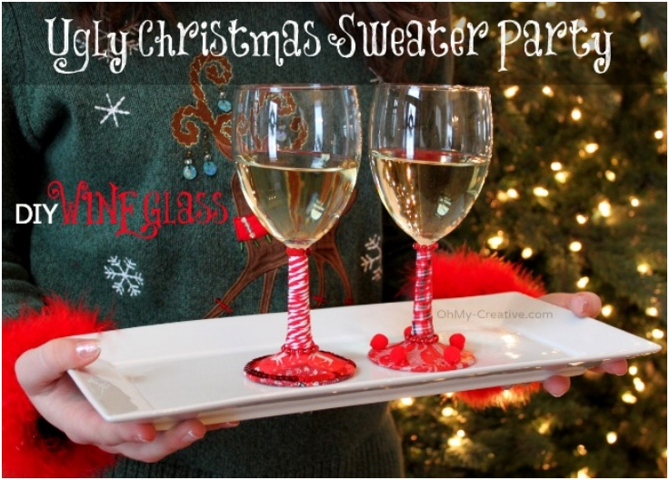 Ugly-Christmas-Sweater-DIY-Wine-Glasses