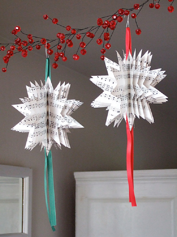 Top 10 wonderful diy paper ornaments top inspired Diy christmas tree decorations