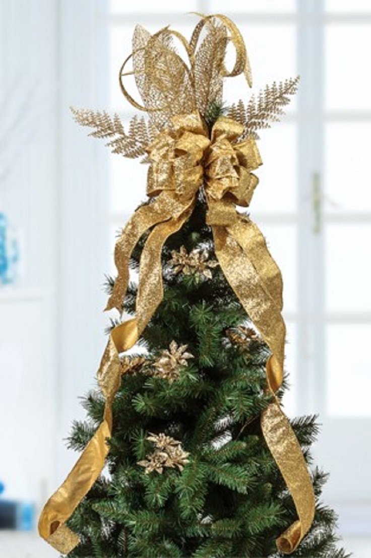 Top 10 Beautiful Christmas Tree Topper Tutorials - Top Inspired