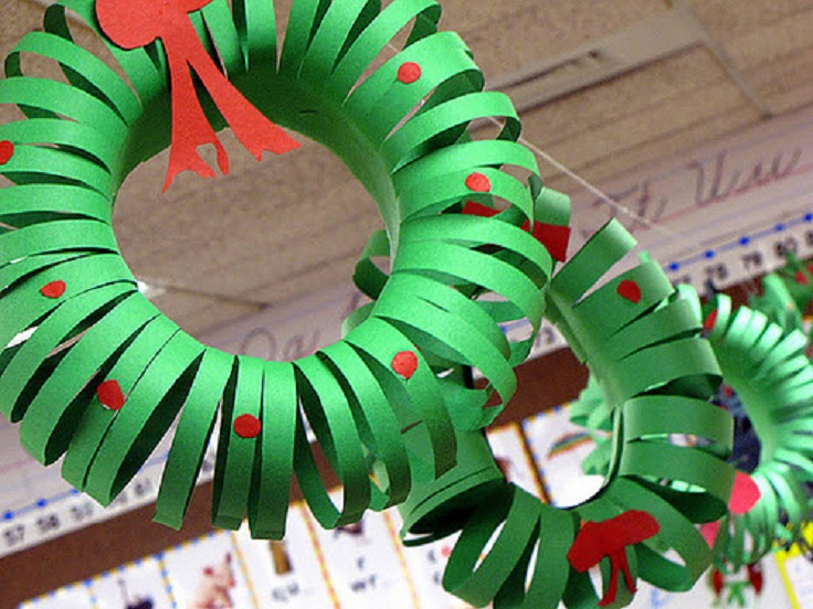 Superior Classroom Christmas Craft Ideas Part - 10: Easy Christmas Decorations To Make With Construction Paper
