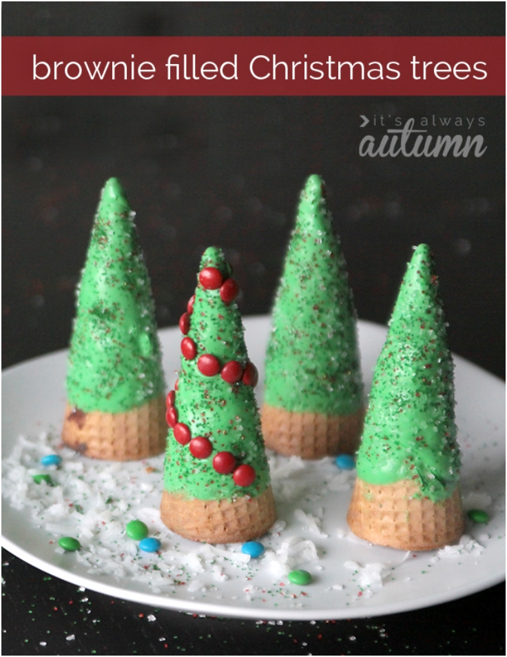 brownie-stuffed-Christmas-trees
