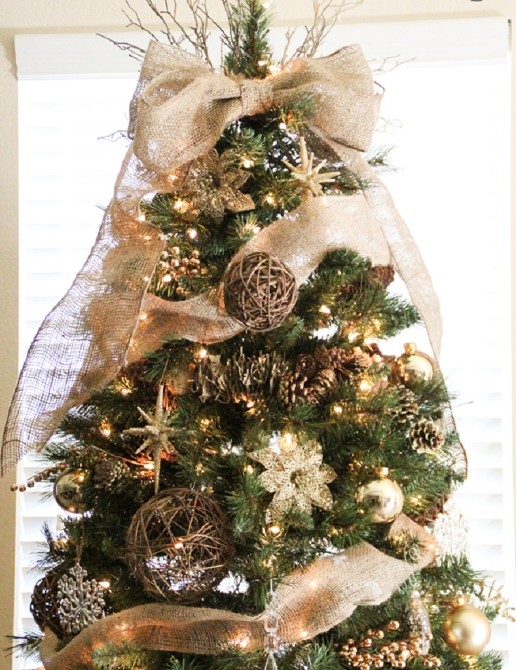 Christmas Tree Decorations With Burlap | Holliday Decorations