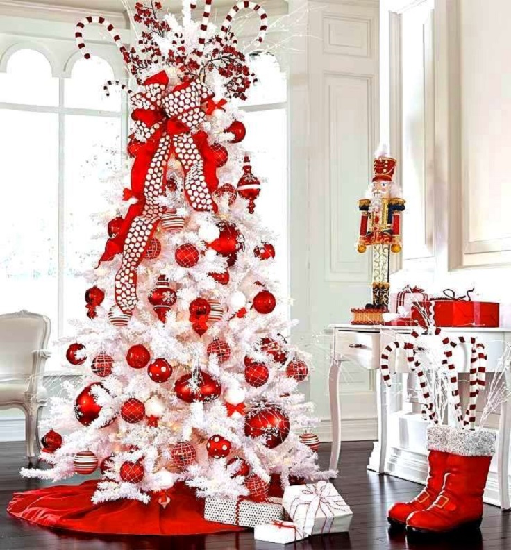 Red And White Christmas Tree Decorations Ideas.25 Red And White Christmas Decoration Ideas The Crafting Nook