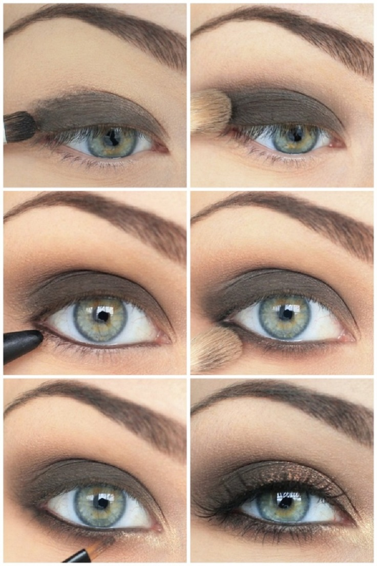 Best Eye Makeup Tutorials Youtube: Top 10 Colors For Blue Eyes Makeup