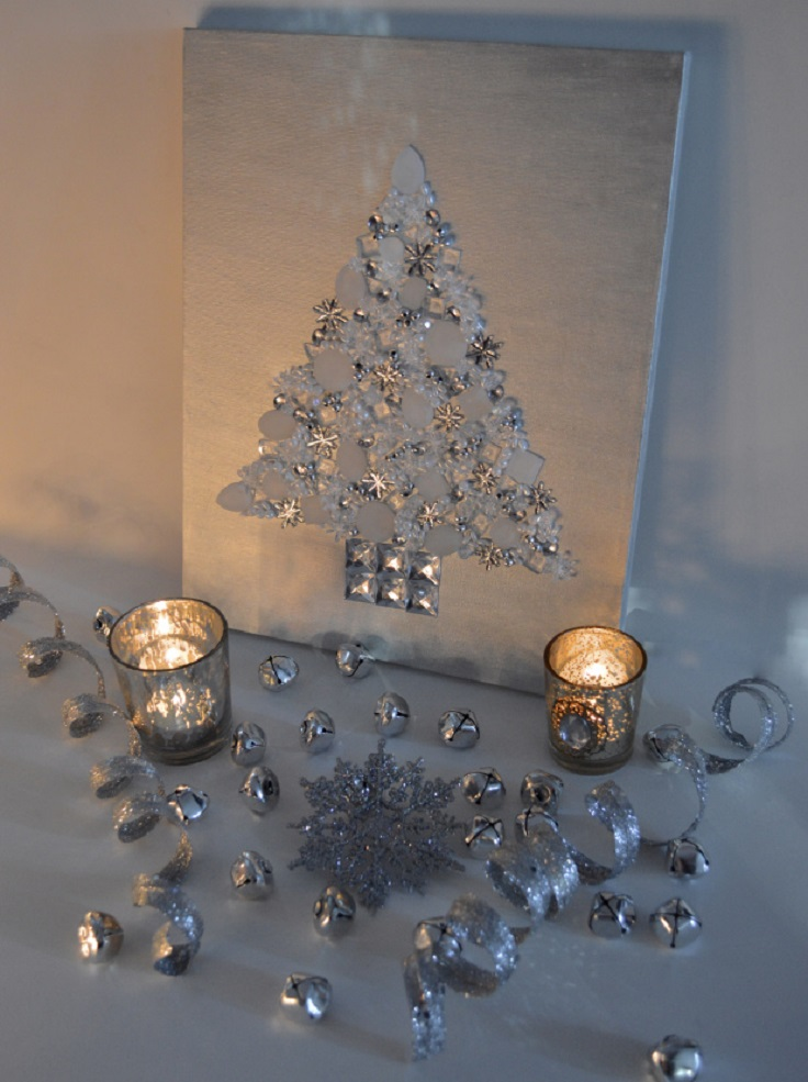 Top 10 Jolly DIY Christmas Canvas Ideas - Top Inspired