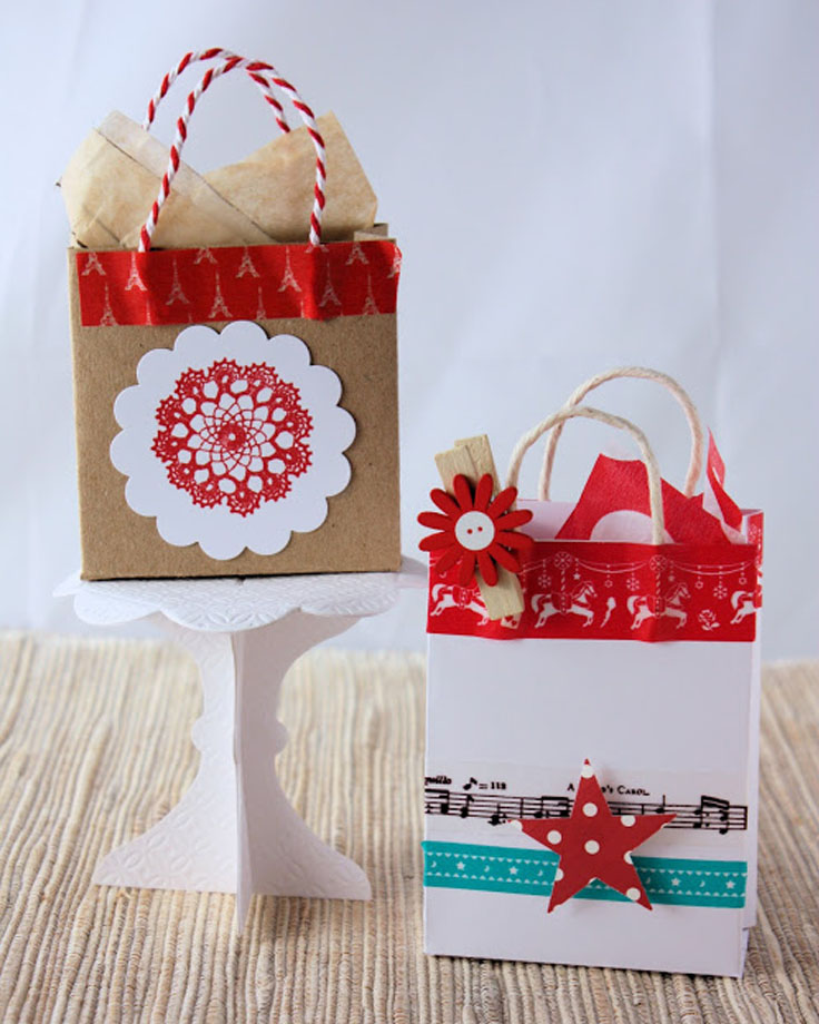 Top 10 diy christmas gift bags top inspired for Small christmas ideas