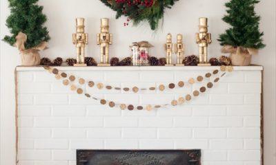 Top 10 Glowing DIY Christmas Mantels | Top Inspired