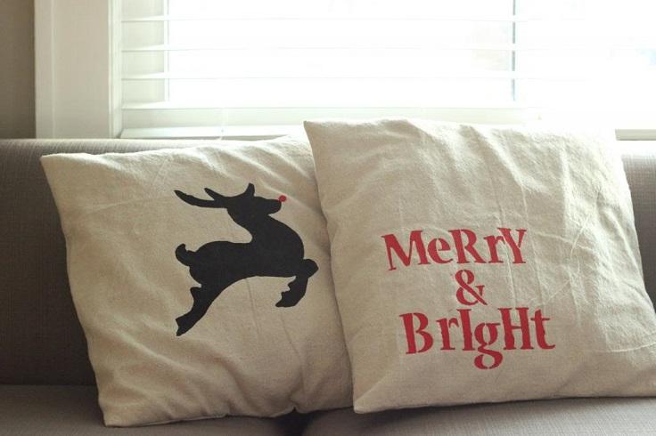 Top 10 Adorable DIY Christmas Pillows - Top Inspired