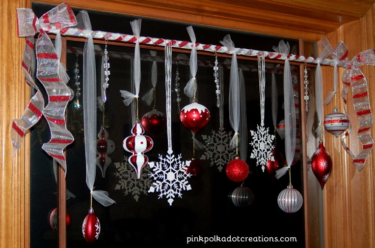 diy holiday window decor