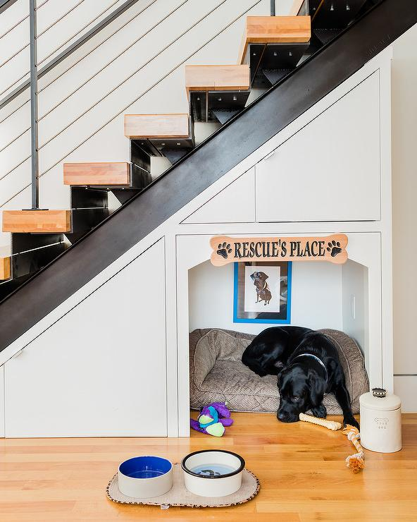 dog-bed-below-staircase-