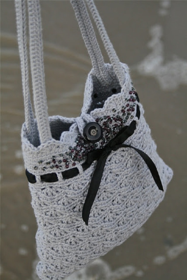 Free Crochet Patterns For Purses Bags : Top 10 Gorgeous Crochet Patterns for Handbags - Top Inspired