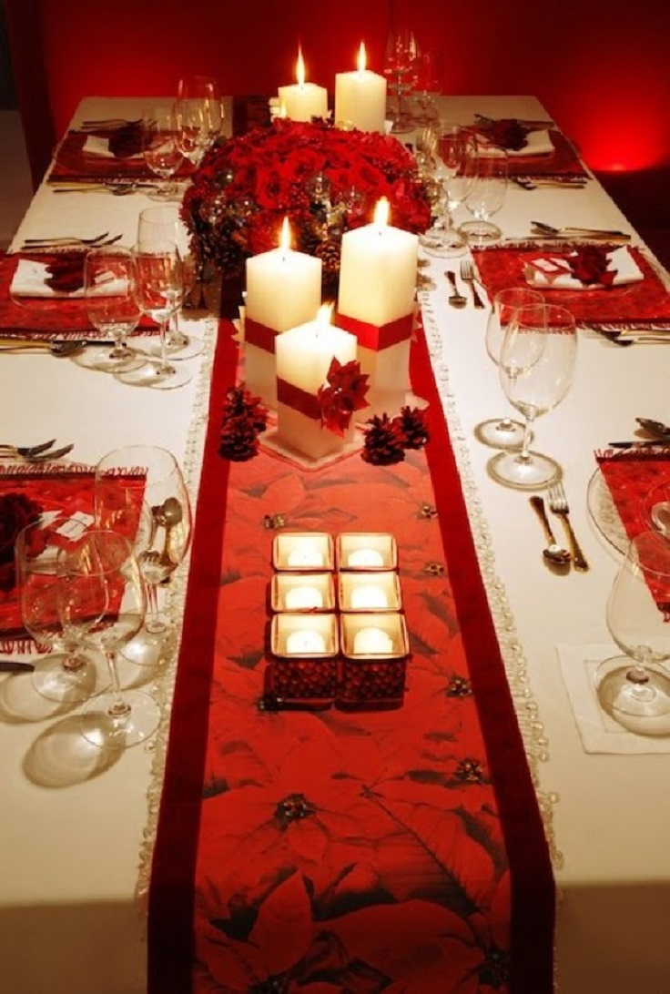 Top 10 inspirational ideas for christmas dinner table - Mesa de navidad decorada ...
