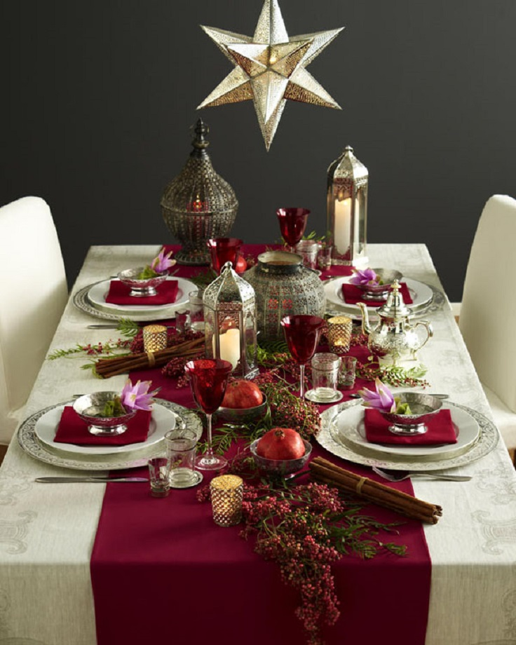 Top 10 inspirational ideas for christmas dinner table Christmas table top decorations