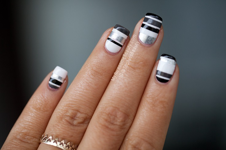 Top 10 Striped Nail Designs - Top 10 Striped Nail Designs - Top Inspired
