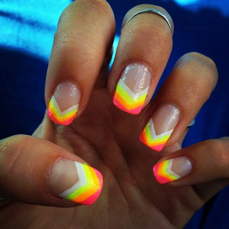 Bright nail designs choice image nail art and nail design ideas top 10  striped nail designs - Neon Design Nails Image Collections - Nail Art And Nail Design Ideas