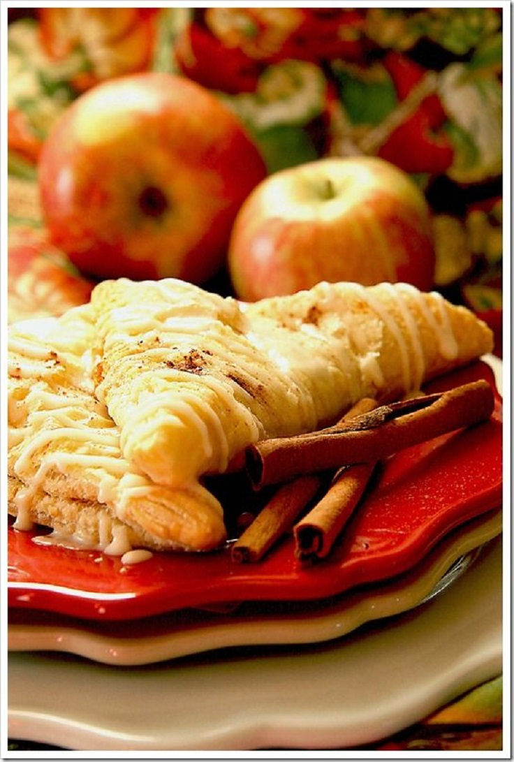 Caramel Apple and Pumpkin Turnovers