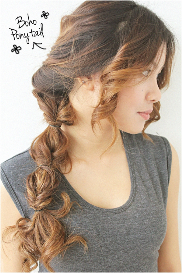 Boho-Ponytail-Hair-Tutoria