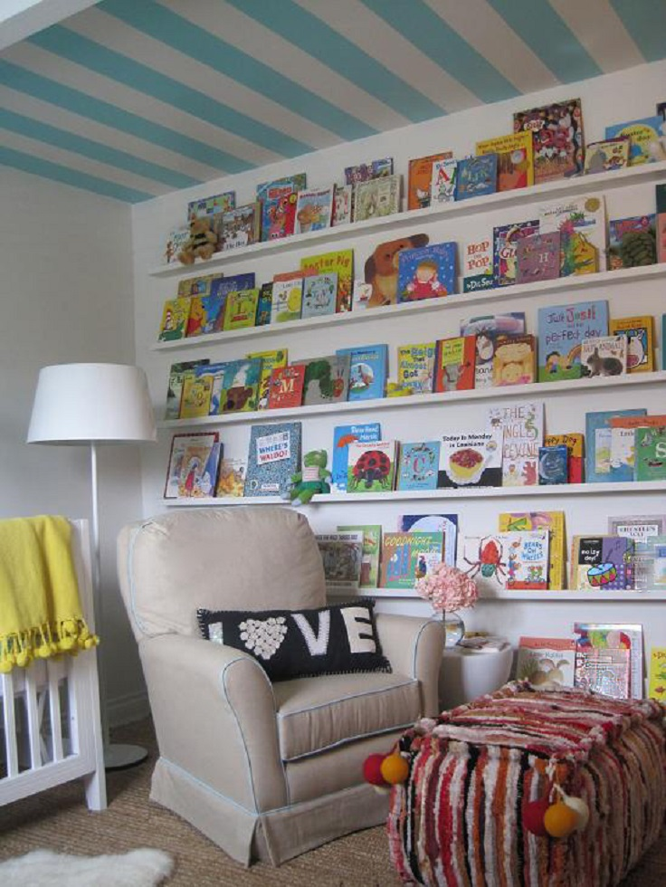 Home Library Bookshelves: Top 10 DIY Kid's Book Storage Ideas