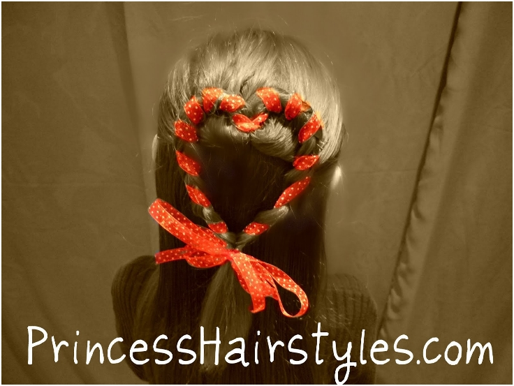 Braided-Heart-Half-Ponytail-With-Ribbon-Accent