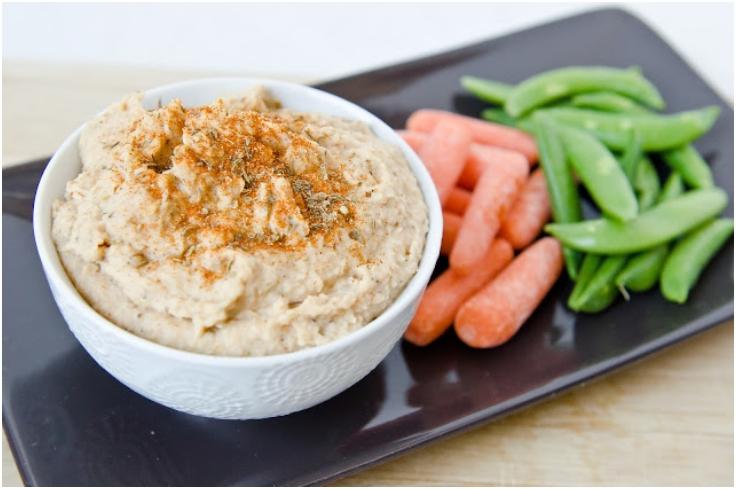 Cajun-White-Bean-Dip-with-Veggies