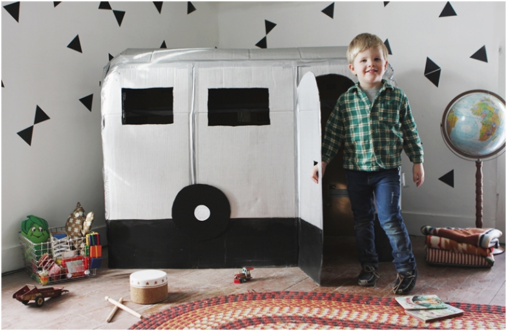 Cardboard-Camper-Playhouse