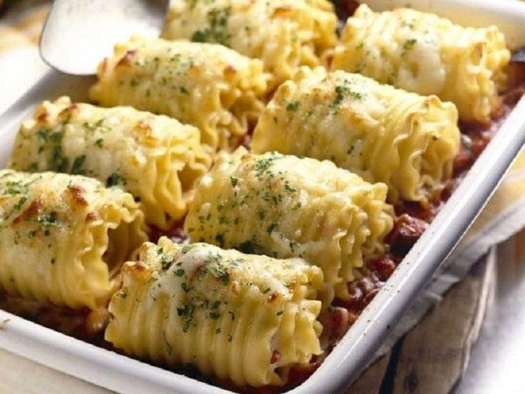Chicken-and-Cheese-Lasagna-Rolls