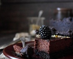 Chocolate Tart with Blackberries