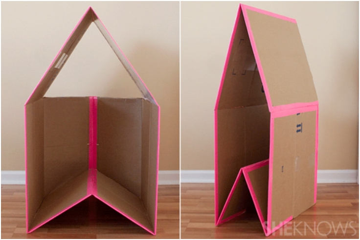 Collapsible-Cardboard-Playhouse