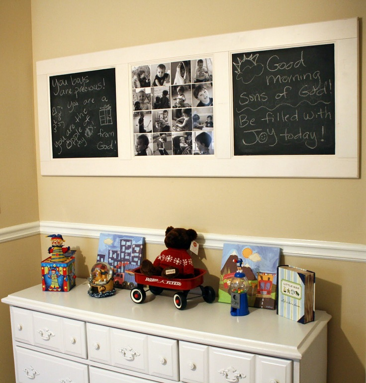 DIY-Chalkboard-Collage-Door