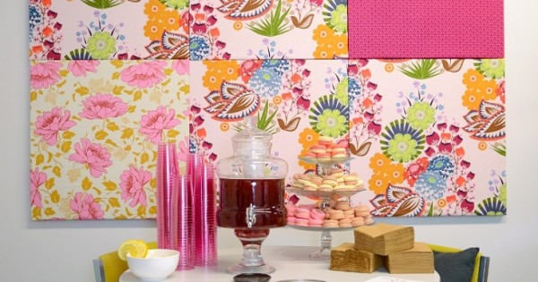 Diy Fabric Wall Panels : Top creative diy fabric home decorations
