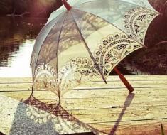 DIY Lace Umbrella with Circle Punch