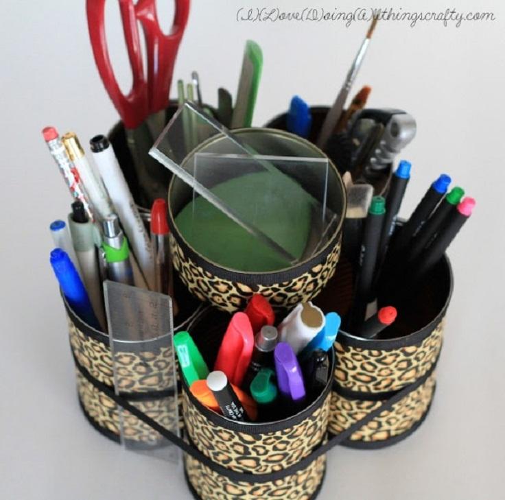 DIY-Stationary-desktop-organizer