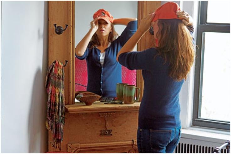 Dressing Vanity from a Vintage Door