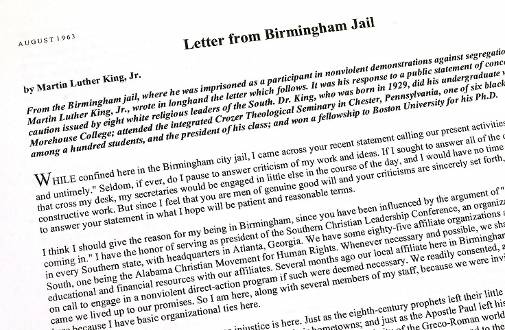 letter from birmingham city jail essay