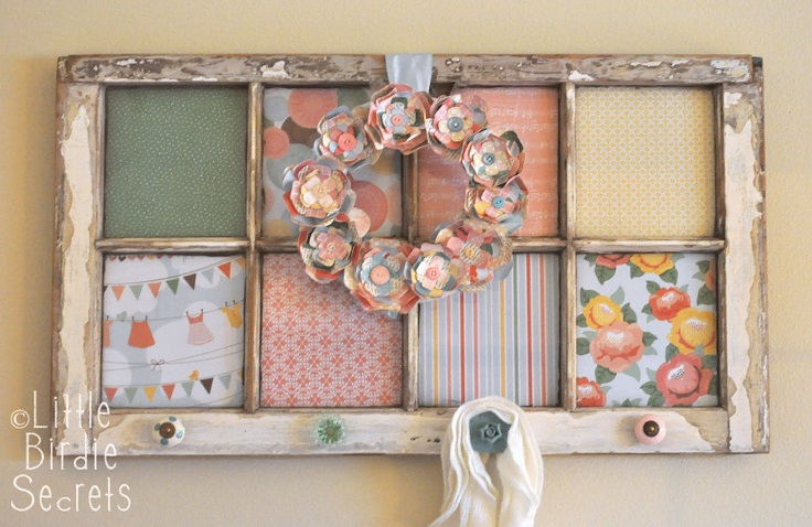 Top 10 smart diy ideas for recycling old windows top for Using old windows as picture frames