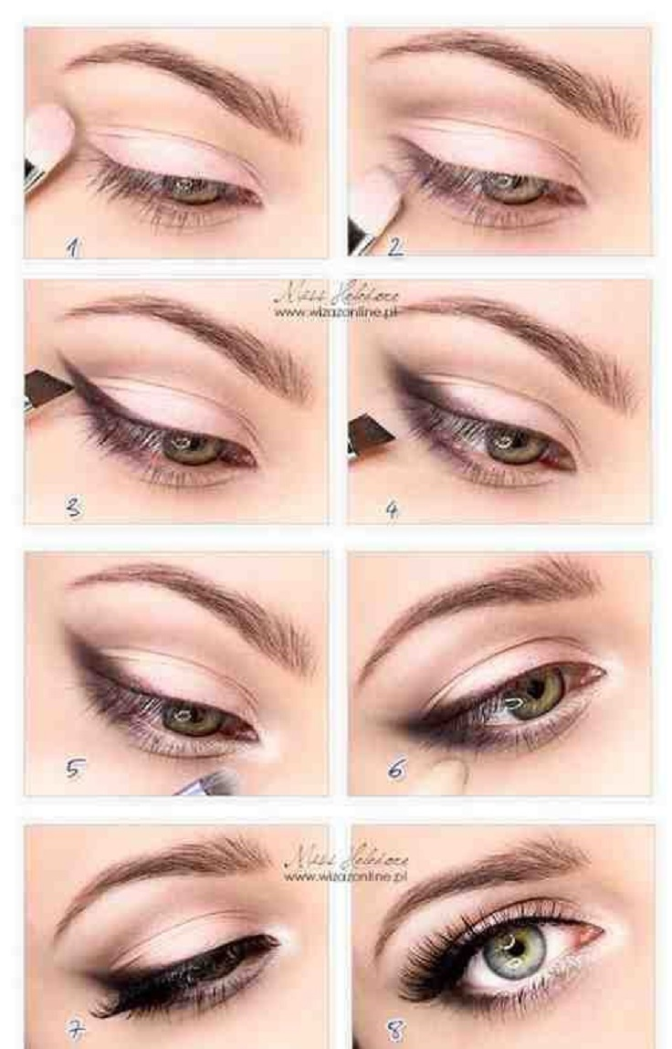 cute makeup ideas for hazel eyes - cat eye makeup
